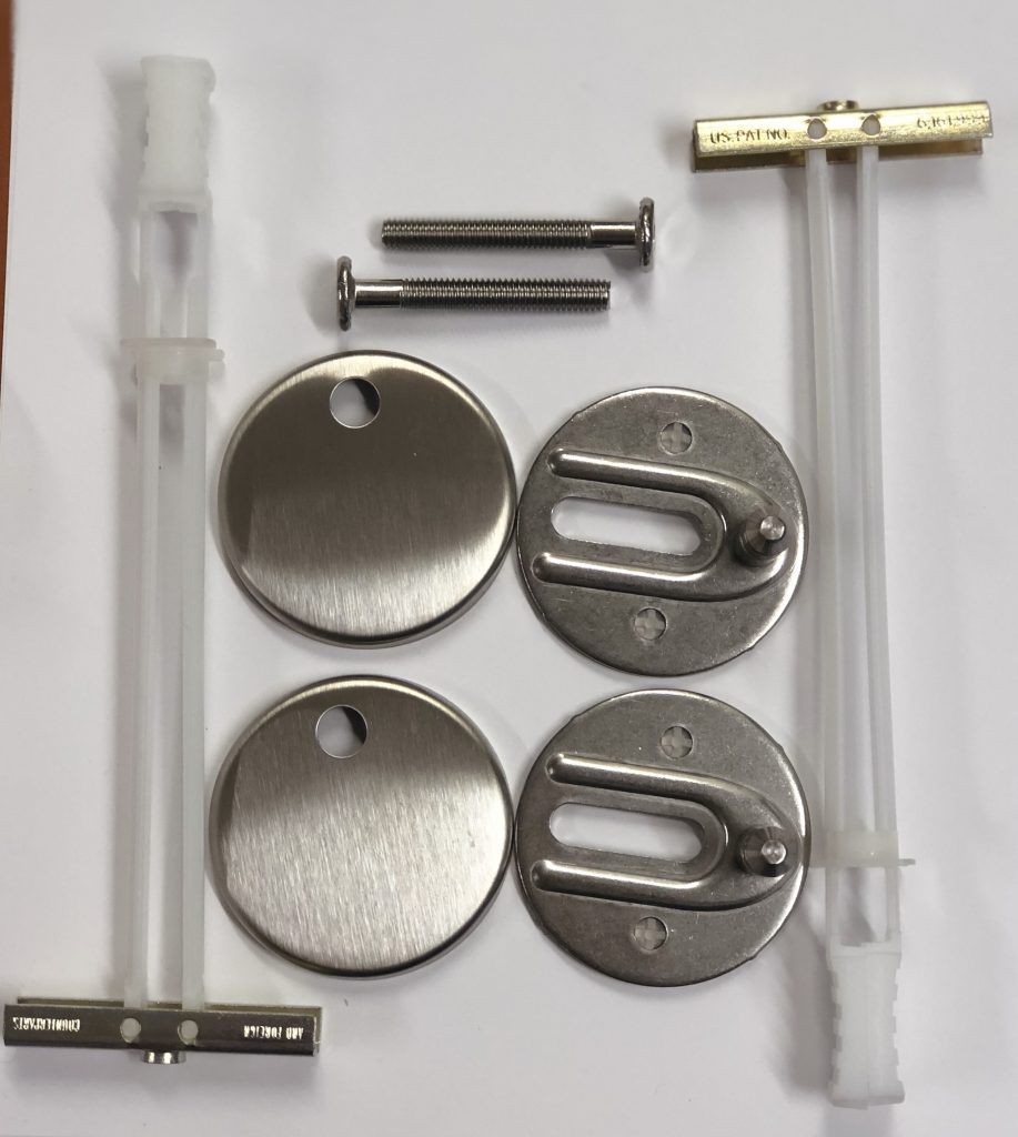 Evora Low Profile Toilet Seat Hinge Kit Hygrade Plumbing